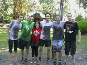 The staff team after monster challenge