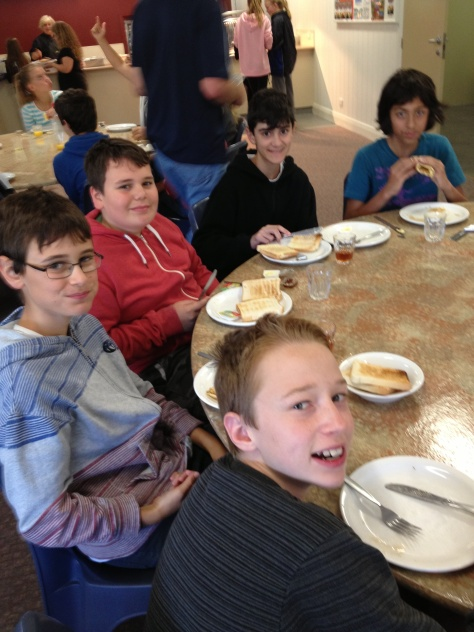 Breakfast at Forest Edge. Year 7 Camp, Sandringham 7-10