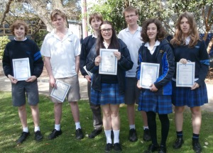 Year 10 students recieve their school colours