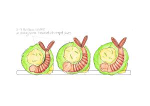 Mini Prawn Cocktails Annotated Design